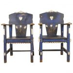 Mexican Blue Painted Chairs Tuilips Sale