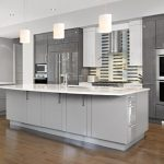 Minimalist Tan Grey Kitchen Cabinet Paint Color Silver Setting Looking Glass Dunn