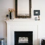 Mirror Above Fireplace Contemporary Living Room Lonny