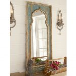 Mirrors Astounding Distressed Floor Mirror Extra Large Gold