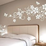 Modern Living Room Wall Painting Stencil Home Design