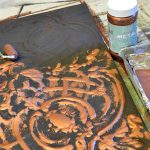 Modern Masters Metal Effects Makes Rusty Patinated Wall Art Magic Cafe