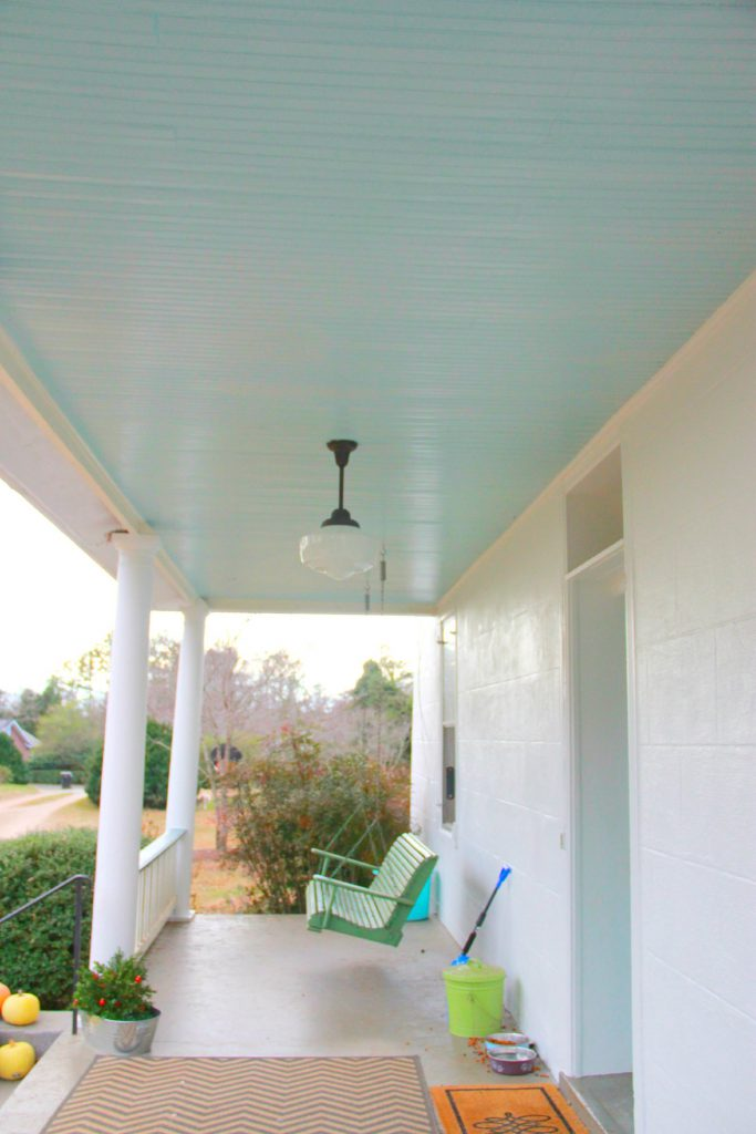 Monday Makeover Haint Porch Ceiling