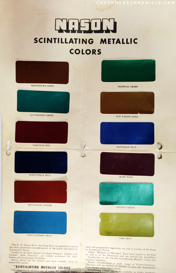 Nason Paint Color Chart Single Stage Numberedtype