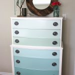 Nature Inspired Handcrafted Jewelry Ombre Painted Dresser Tutorial Refinish