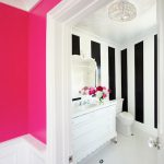 Neon Pink Wall Paint Contemporary Bathroom Benjamin Moore Hot Lips Courtney