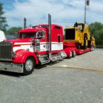 New Addition Kenworth Semi Truck Cab Burgandy Metalic Trailer Yet