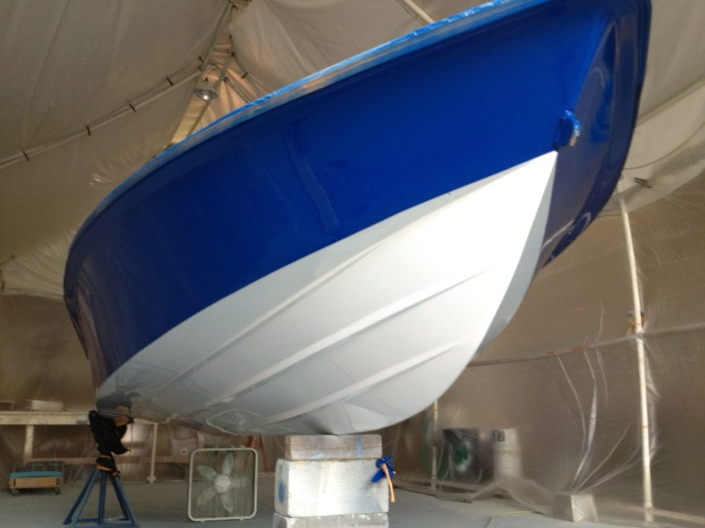 New Awlcraft Paint Job Navy Blue Snow White Maverick Flats Boat Brands Marine