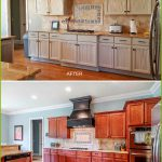 New Painting Wood Kitchen Cabinets White Before After Design