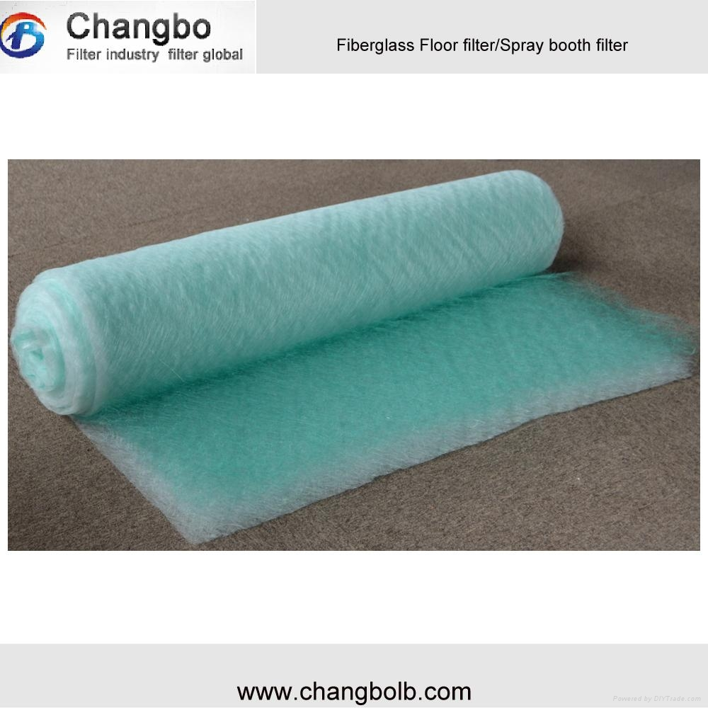 Non Woven Spray Booth Floor Filter Fiberglass Paint Stop Media
