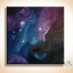 Oil Painting Space Art Galaxy