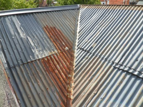 Old Metal Roofing