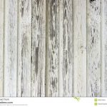 Old White Painted Wood