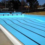 Olympic Pool Painted Luxapool Chlorinated Swimming Paint Rubber Pacific