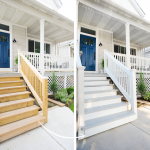 Only Took Year Painting Exterior Stairs Yellow Brick