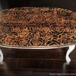 Out Box Stenciled Table Top Ideas