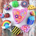 Outdoor Craft Ideas Painting Garden Rocks Kit