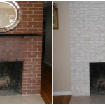 Paint Brick Fireplace Before After Cool Ideas Home