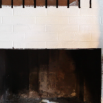 Paint Brick Fireplace Porch