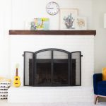 Paint Brick Fireplace