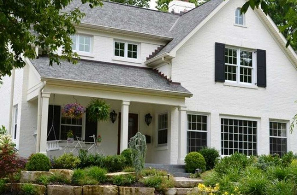 Paint Brick House Warm White Color Ideas Home Interior