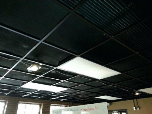 Paint Ceiling Tiles Black