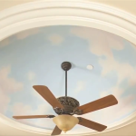 Paint Clouds Ceiling Mural