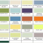 Paint Color Chart Interior Ideas Envision Coating