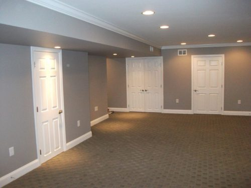 Paint Color Ideas Basement Room Craftsman Sage Green Walls Wooden Coffee