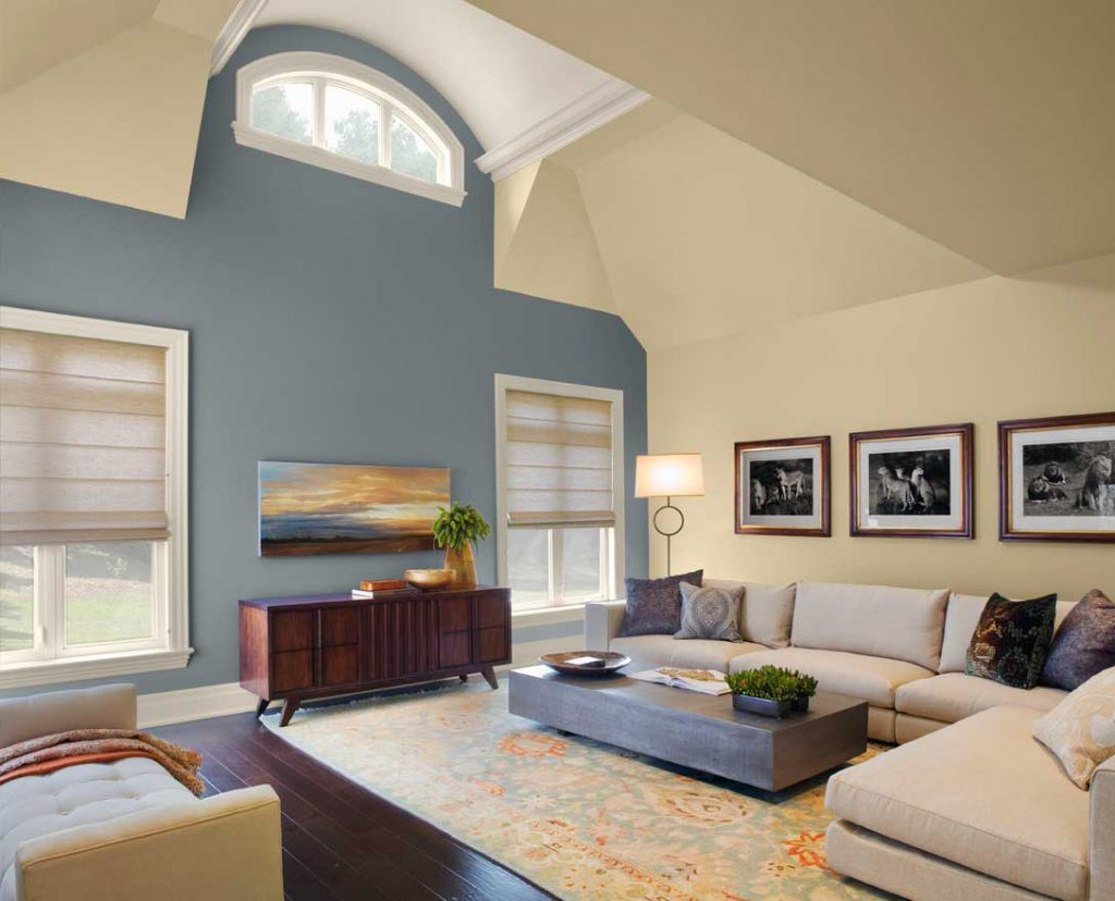 Paint Color Ideas Living Room Gray Cream Wall Home Interior