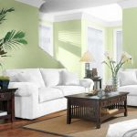 Paint Color Ideas Small Living Room Inside Lovely White Sofa Cream Green Wall