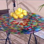 Paint Colorful Kaleidoscope Table