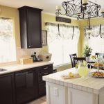 Paint Colors Kitchen Cabinets Black White Island Wooden Countertop