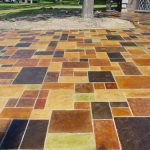 Paint Concrete Patio Painted S Flagstone Stamped
