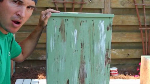 Paint Distress Antique Furniture Project Painted Green Refinished