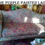 Paint Fabric Purple Painted