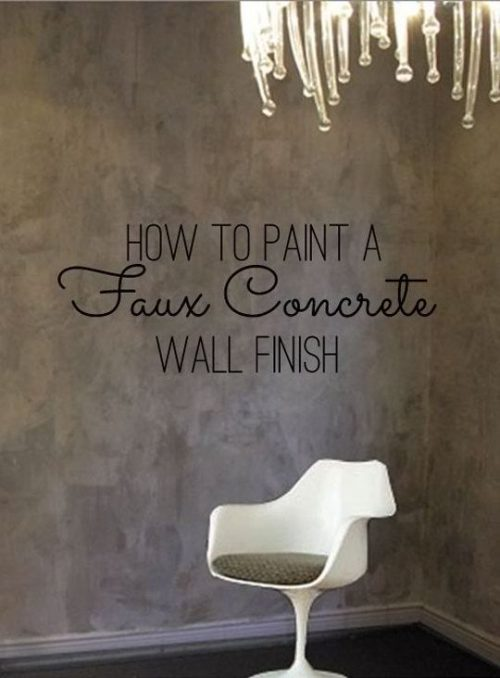 Paint Faux Concrete Wall Finish Color