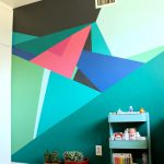 Paint Geometric Wall Design