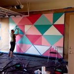 Paint Giant Geometric Feature Wall Mural