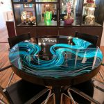 Paint Glass Table Top