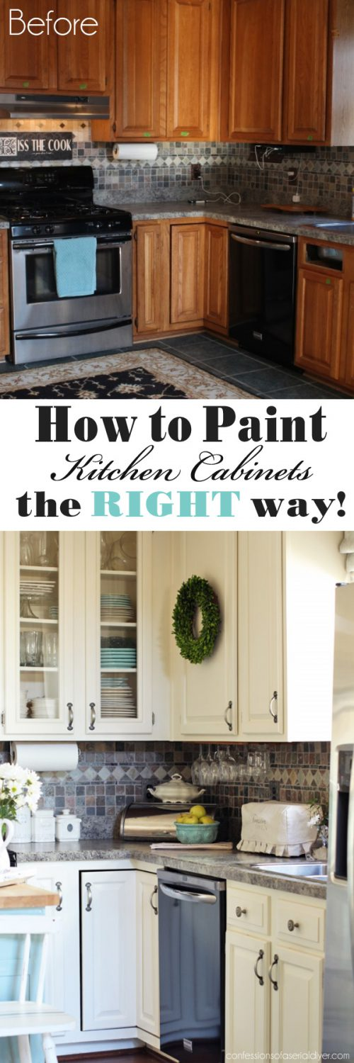Paint Kitchen Cabinets Step