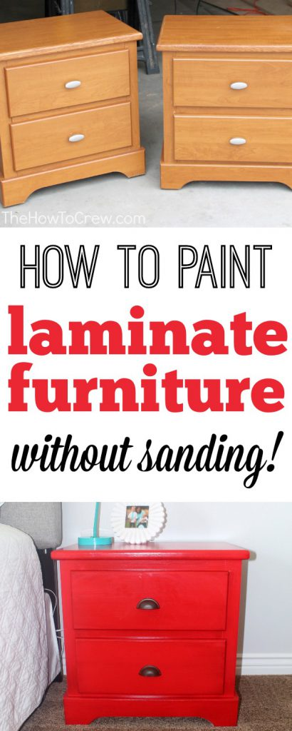 Paint Laminate Furniture Without Sanding Step Tutorial Painting