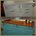 Paint Makeover Idea French Blue Dresser