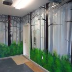 Paint Misty Forest Mural Using Spray