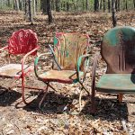 Paint Old Rusty Outdoor Metal Chairs Rustic Crafts Chic