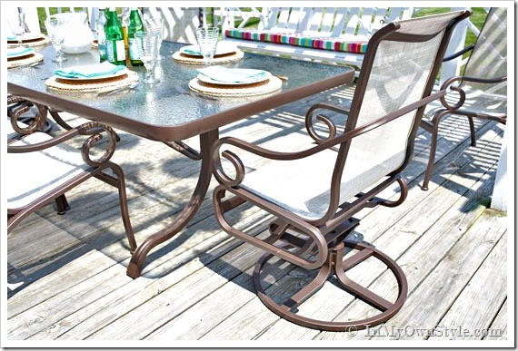 Paint Outdoor Furniture Sling Seats