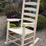 Paint Outside Wooden Rocking Chair