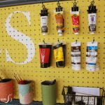 Paint Pegboard Organizer Everyday Dishes