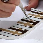 Paint Plaid Wood Letters