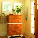 Paint Retro Floral Design Dresser Tos